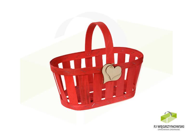 Koszyk 23,5 x 13,5 x 10,5 cm, wysokość całkowita 20cm, kolor 4, serce