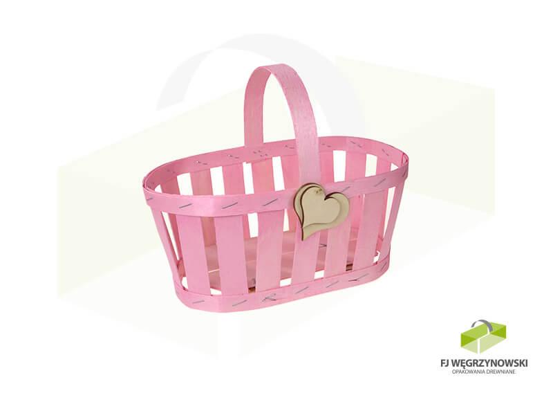 Koszyk 23,5 x 13,5 x 10,5 cm, wysokość całkowita 20 cm, kolor 6, serce
