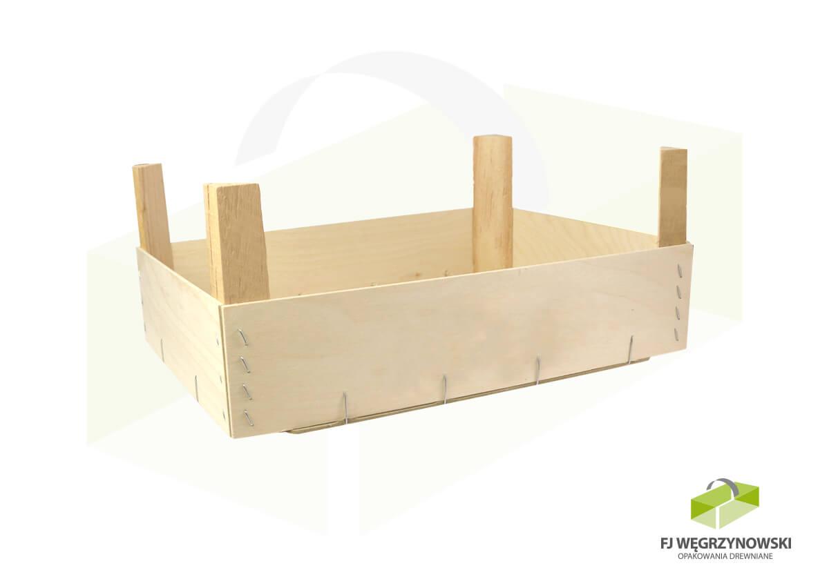 Skrzynka drewniana 39,5 x 29 x 9 cm, wysokość całkowita 16,5 cm